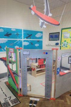 airport role play area - Google Search Dramatic Play Themes, Dramatic Play Area, Dramatic Play Centers, Kindergarten Classroom, Classroom Themes, Airport Theme, Airport Jobs, Transportation Theme Preschool, Play Corner