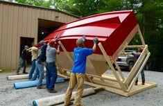 Shanty Boat, Tiny House Trailer, Diy Boat, Boat Design, Small Boats, Boat Building, Construction, Cabin, Magazine