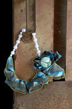 Upcycled necklace made with vintage beads eiffel by MiltonFay, $50.00 love it! must try! #ecrafty