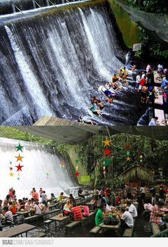 Amazing Waterfalls Restaurant in Villa Escudero Resort, Philippines Places To Travel, Places To See, Philippine Holidays, Philippines Travel, Dream Vacations, Villa, Trip Planning, The Good Place, Beautiful Places