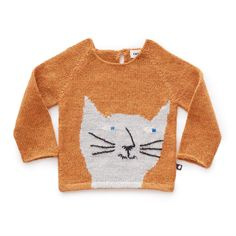 Baby Alpaca Wool Cat Jumper Oeuf NYC Baby Children- A large selection of Fashion on Smallable, the Family Concept Store - More than 600 brands. Pullover, Sweater Hoodie, Nyc Fashion, Kids Fashion, Pull Chat, Pull Bebe, Embroidery On Clothes, Cat Sweaters, Alternative Outfits