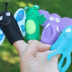 Make a child's day by stitching up some felt finger puppets.  Very easy, and 14 different puppets included in this tutorial.