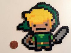 Link Zelda Perler bead magnet/necklace/car by HippyDippyStore