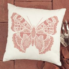 A stunning blackwork butterfly designed by Mary Hickmott. Available as a pattern…