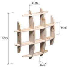Wooden Wall Shelf Bookcase Large Size Hanging Bookshelf Floating Shelves Decor | eBay