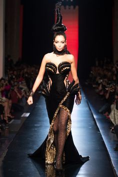 Jean Paul Gaultier Fall/Winter 2013 Couture Collection; modeled by Nabilla Benattia [July 3, 2013 / Paris]