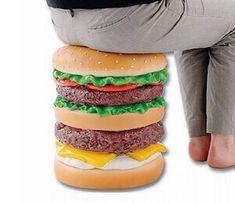 Giant Burger Stool