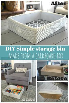 20 Diy Storage Bins Baskets And Boxes Diy Project Ideas