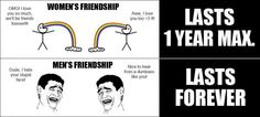 Rage Comic   Difference between guy and girl friendships