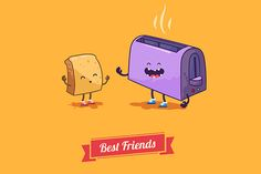 Best friends. Vector cartoons. by Krol on Creative Market