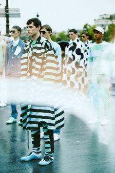 Pop pastels at Kenzo SS15, Paris menswear. More images here: http://www.dazeddigital.com/fashion/article/20574/1/kenzo-ss15