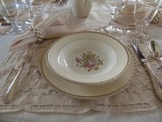 A Table Set for Downton Abbey