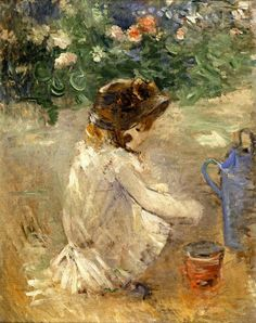 Eugene Manet on the Isle of Wight by Berthe Morisot. Exhibitions: Museo Thyssen-Bornemisza, Berthe Morisot: The Impressionist Painter; Pierre Auguste Renoir, Edouard Manet, Paul Cezanne, Claude Monet, Camille Pissarro, Julie Manet, Berthe Morisot, Mary Cassatt, Impressionist Paintings
