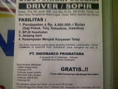 Find Job Sidoarjo: PT. INDOMARCO PRISMATAMA SIDOARJO