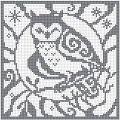 Woodland Wildlife in Filet Crochet -
