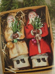 Old Belsnickles.in original box.with pine switches for the bad children. Merry Little Christmas, Victorian Christmas, Primitive Christmas, Vintage Christmas Ornaments, Father Christmas, Vintage Holiday, Country Christmas, All Things Christmas, Christmas Time