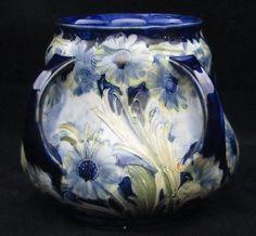 William Moorcroft 4 Handled Vase (1902)  Unusual and beautiful  <3