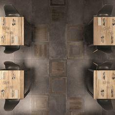 Unika-ABK-8, Espace public, Cuisine, Salle de bain, Séjour, Extérieur, Effet effet pierre, Effet effet béton, Effet effet bois, style Style patchwork, Grès cérame émaillé, revêtement mur et sol, Résistance au glissement R10, R11, bord non rectifié, Bord rectifié, Variation de nuances V3