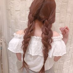 Uploaded by Purpleberry👾. Find images and videos about girl, style and hair on We Heart It - the app to get lost in what you love. Kawaii Hairstyles, Pretty Hairstyles, Hair Inspo, Hair Inspiration, Princess Hairstyles, Hair Brush, Ulzzang Girl, Dyed Hair, Your Hair