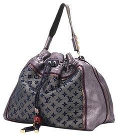 84a856c08ebf Monogram Lurex Bluebird Purple Python Leather Shoulder Bag