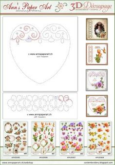 Complimentary freepattern to Ann's Paper Art 3D Decoupage Sheets: APA3D005, APA3D006, APA3D007, APA3D008 Visit our Pinterest page for more inspirational ideas with these Sheets https:/www.pinterest.com/annspaperart/3d-decoupage-sheets    X   X   X   X ...