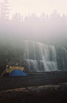 Probably the first to get crossed off. Vancouver Island's 75 km West Coast Trail.  West Coast Trail - Tsusiat Falls on a misty morning