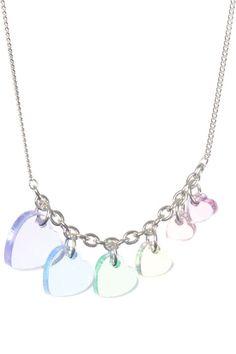 Rainbow heart necklace