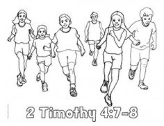 running the race coloring pages - photo#27