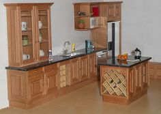 1/12th scale kitchen in American cherry | another view of th… | Flickr