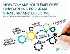 In this guide, learn how to make your employee onboarding program strategic and effective for better new hire engagement, productivity, and retention.