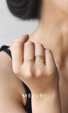 And this is how minimalism is done. 14k gold to wear everyday.