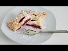 Cherry Turnovers, Smoothies, French Toast, Make It Yourself, Baking, Breakfast, Ethnic Recipes, Desserts, Youtube