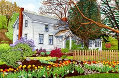 spring time in the country ~ Back Creek Road-Old Homestead by Thelma Winter