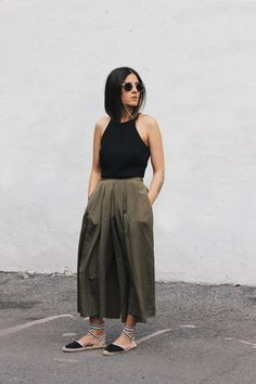 Outfits With Lace Up Espadrilles How To Wear Lace-Up Espadrilles (Le Fashion) Espadrilles Outfit, 30 Outfits, Summer Outfits, Fashion Outfits, Trendy Outfits, Street Style Summer, Looks Style, Spring Summer Fashion, Spring Style