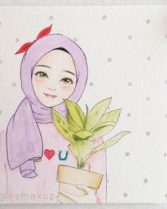 ^.^ Hijab Drawing, Manga Drawing, Friend Cartoon, Girl Cartoon, Crown Illustration, Hijab Cartoon, Girl Sketch, Autumn Art, Weird Art