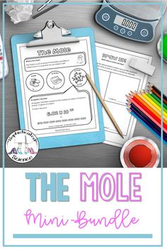 The Mole Concept- Stoichiometry Mini Bundle High School Classroom, High School Science, Mole Concept, Science Resources, Activities, Science Doodles, The Mole, Fun Ideas, Chemistry