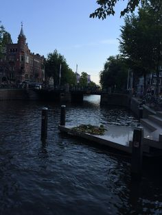Sightseeing canals in Amsterdam.