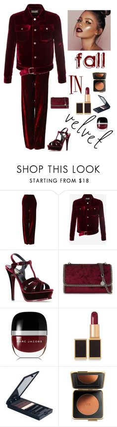 """""""Fall in Velvet"""" by kotnourka ❤ liked on Polyvore featuring Versace, Bally, Yves Saint Laurent, STELLA McCARTNEY, Marc Jacobs, Tom Ford, Serge Lutens and Estée Lauder"""
