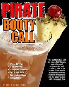 A rum punch cocktail with benefits. Liquor Drinks, Dessert Drinks, Cocktail Drinks, Cocktail Recipes, Cocktails, Beverages, Martinis, Desserts, Mixed Drinks Alcohol