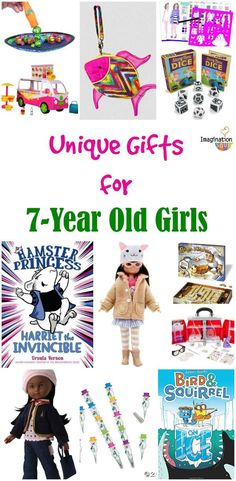 I've found the perfect gifts for 7 year old girls! These are unique, creative, and educational gifts that any 7 year old girl will love. Christmas Presents For 7 Year Olds, Christmas Gifts For Girls, Birthday Gifts For Girls, Christmas Toys, Girl Birthday, Christmas 2015, Christmas Ideas, Birthday Ideas, Best Gifts For Girls