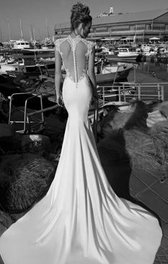 In love ♡ this wedding dress speaks to me!! This style is my fave with a feature lace back even!