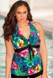 Beach Belle, at Swimsuits for All, tankini top comes in sizes to This Oahu halter Tie Front Tankini Top also comes in a tankini, shortini and skirtini swimsuit styles! Swimsuits For All, Plus Size Swimsuits, Women Swimsuits, Oahu, Swimwear Fashion, Women's Swimwear, Beachwear, Summer Suits, Dressing Rooms