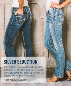 """571abac3 Silver Suki jeans fit me well right now. I have a light wash and black.  Would be interested in a more """"business casual"""" pair of jeans with less ..."""