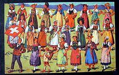 Switzerland Swiss Costumes Costume Suisses All Cantons