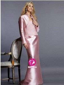 Sirène Sans bretelles Longueur ras du sol Robe mère de mariés 2012 en Satin avec Perle FR0251897