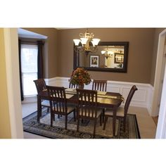 Delightful Formal Dining Room   Dining Room Designs   Decorating Ideas   HGTV Rate My  Space. Would Like To Paint My Walls In Dining Room A Muted Olive With ...
