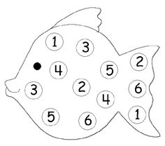 Number recognition Game- roll the dice and color in the numbers. Whoever colors all the circles in first wins.