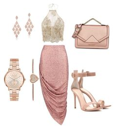 Rose Gold by kayansah on Polyvore featuring polyvore, fashion, style, Boohoo, Gianvito Rossi, Karl Lagerfeld, Michael Kors, Anne Sisteron and clothing
