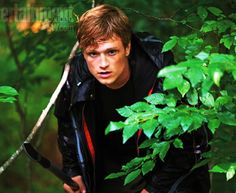 Hunger Games still: Peeta ready to spring into action