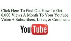 How To Get 6,000 Views A Month To Your Youtube Video + Subscribers, Likes & Comments Too http://fiverr.com/chivvy/show-you-how-to-get-6000-views-a-month-to-your-youtube-video-plus-subscribers-and-video-likes--2